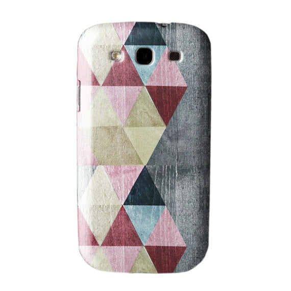 Coloured triangles in Red Case Samsung Galaxy S3