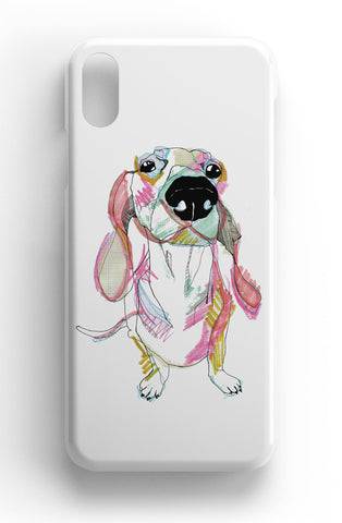 "Casey Rogers Illustrated Phone Case ""Sausage Dog"""