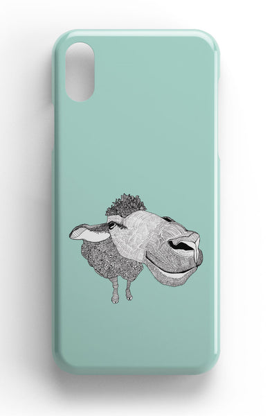 "Casey Rogers Illustrated Phone Case ""Big Face Sheep"""