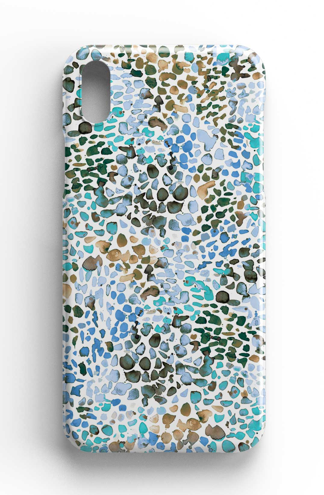 Ninola Design Speckled Watercolor Blue Phone Case
