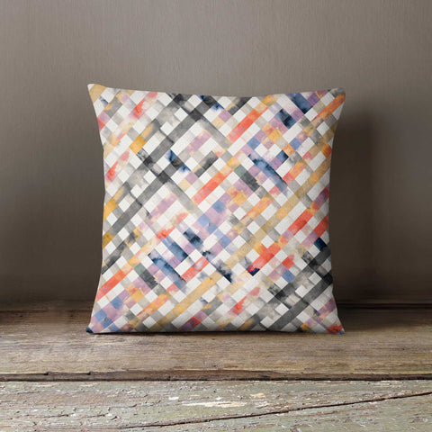 Ninola Design Summer Gingham Watercolour Cushion