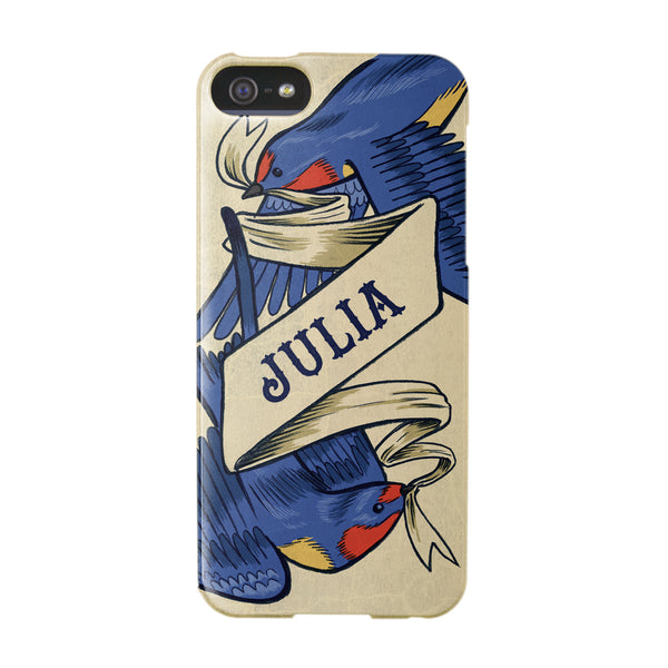 Personalised Swallow Tattoo Case