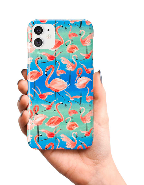 Ninola Design Watercolor Pink Flamingos Phone Case
