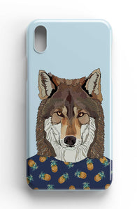 "Casey Rogers Illustrated Phone Case ""Wolf"""