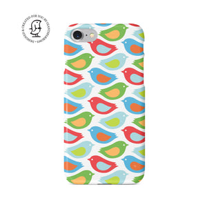 "Martina Pavlová Illustrated Phone Case ""Bird Colours"""