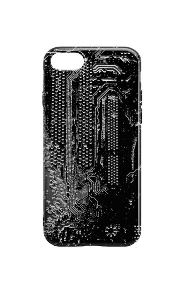 Circuit Board Phone Case - Black Motherboard