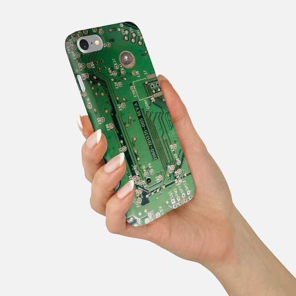 Circuit Board Phone Case - Green Motherboard