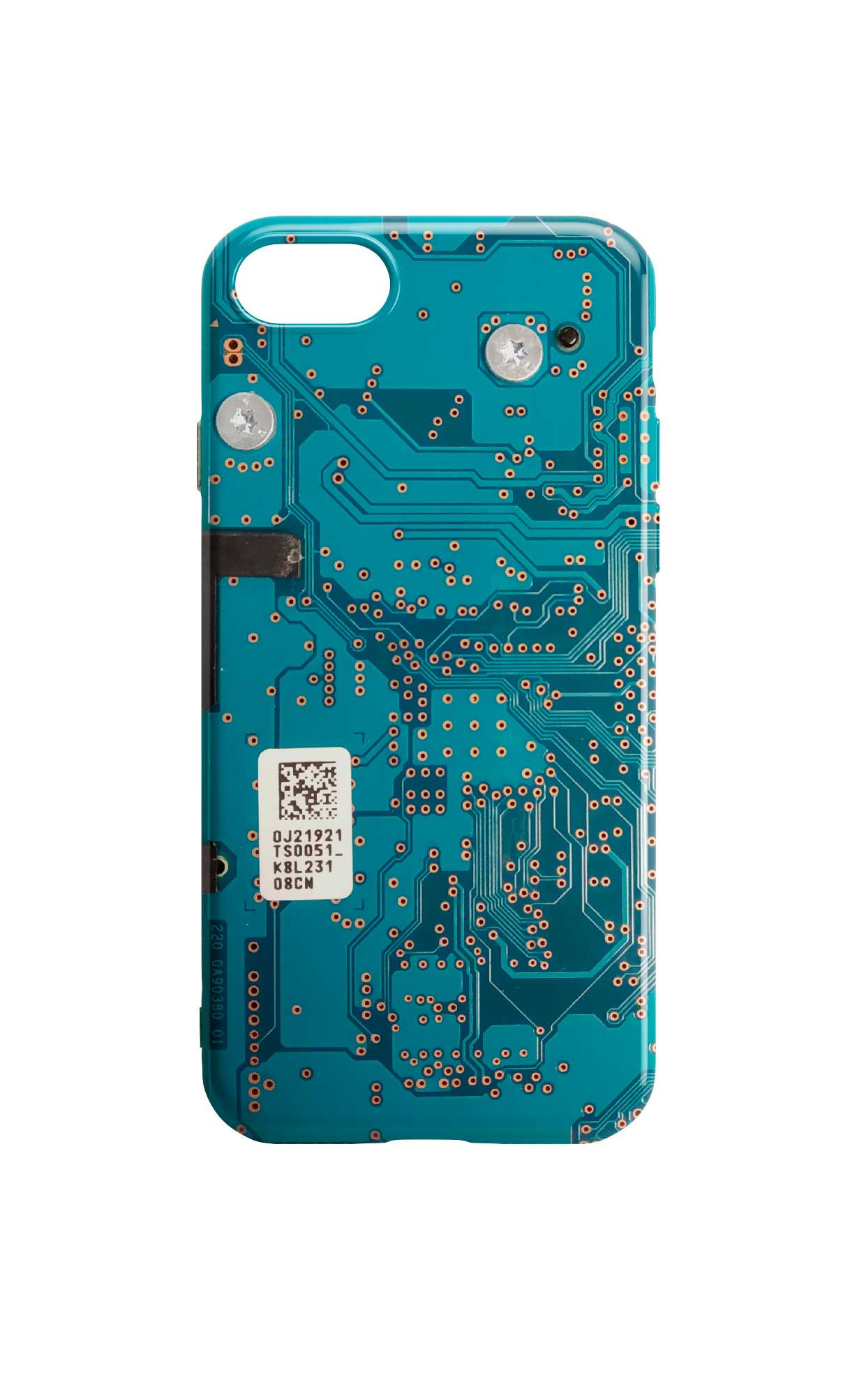 Circuit Board Phone Case - Blue Motherboard