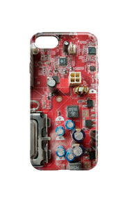 Circuit Board Phone Case - Dusty Red Motherboard