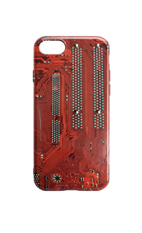 Circuit Board Phone Case - Red Motherboard