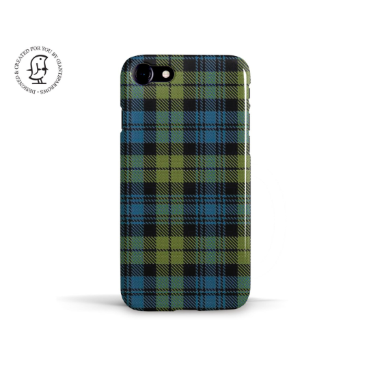 """Campbell Clan Tartan"" Personalised Phone Case"