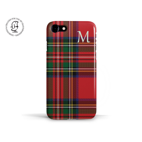 """Royal Stewart Clan"" Personalised Phone Case"