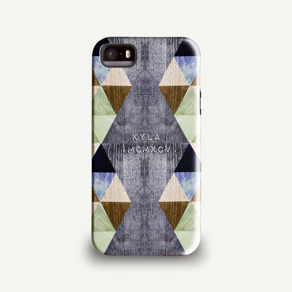 Personalised Triangles Phone case