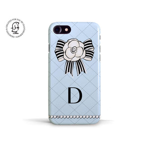 "Martina Pavlová Illustrated Phone Case ""Monogram Blue"""