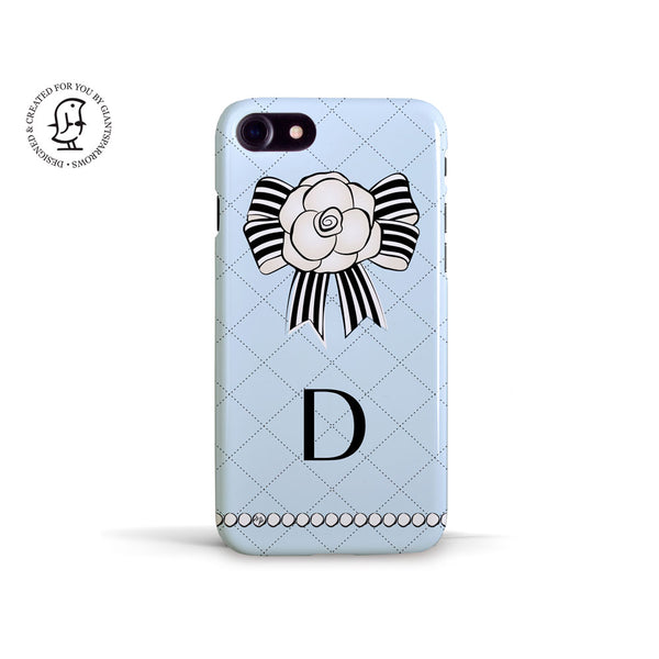 "Martina Pavlová Illustrated Case ""Monogram Blue"""
