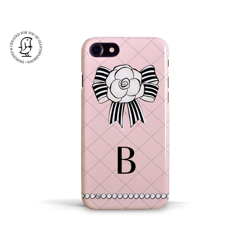"Martina Pavlová Illustrated Phone Case ""Monogram Pink"""