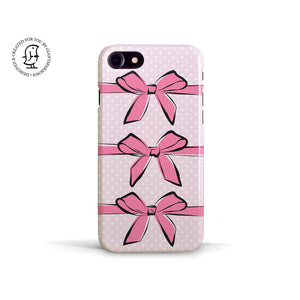 "Martina Pavlová Illustrated Phone Case ""Pink Bows"""