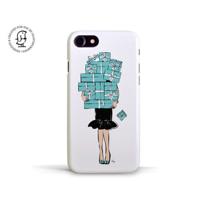 "Martina Pavlová Illustrated Case ""Tiffany Blue Boxes"""