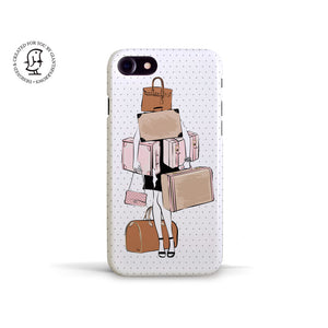 "Martina Pavlová Illustrated Phone Case ""Travel Girl"""