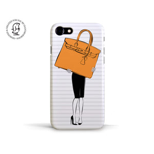 "Martina Pavlová Illustrated Phone Case ""Big Bag"""