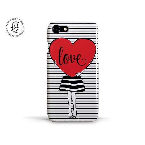 "Martina Pavlová Illustrated Phone Case ""Big Love"""