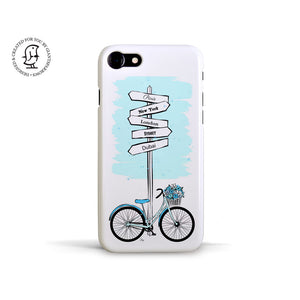 "Martina Pavlová Illustrated Phone Case ""Blue Bike"""