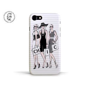 "Martina Pavlová Illustrated Phone Case ""Chic Ladies"""
