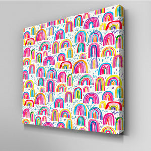 Cute Rainbows Canvas Picture