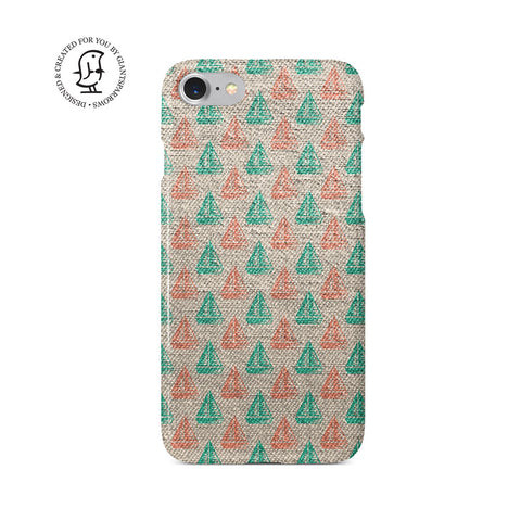 """Red Green Sailing"" Beach House Collection Phone Case"
