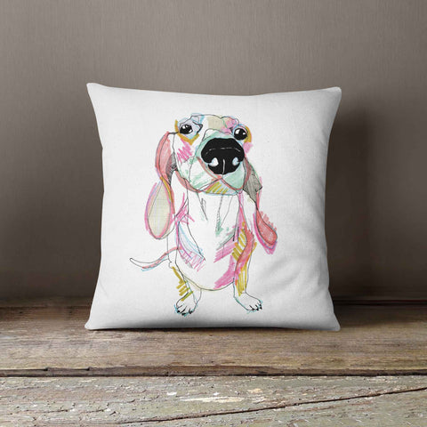 "Casey Rogers Illustration Cushion - ""Sausage Dog"""