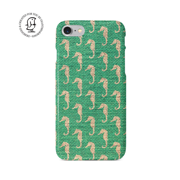 """Green Sea Horse"" Beach House Collection Phone Case"