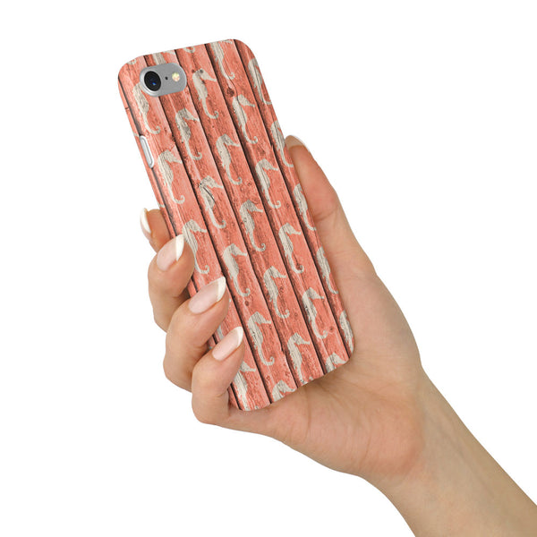 """Pink Sea Horse"" Beach House Collection Phone Case"