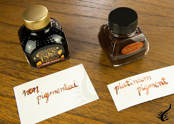 Pingmented and non pigmented ink