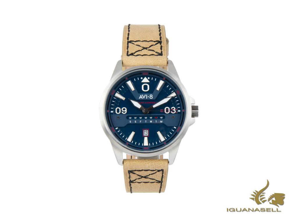 Reloj de Cuarzo AVI-8 Hawker Harrier II, Azul, 45 mm, AV-4063-02
