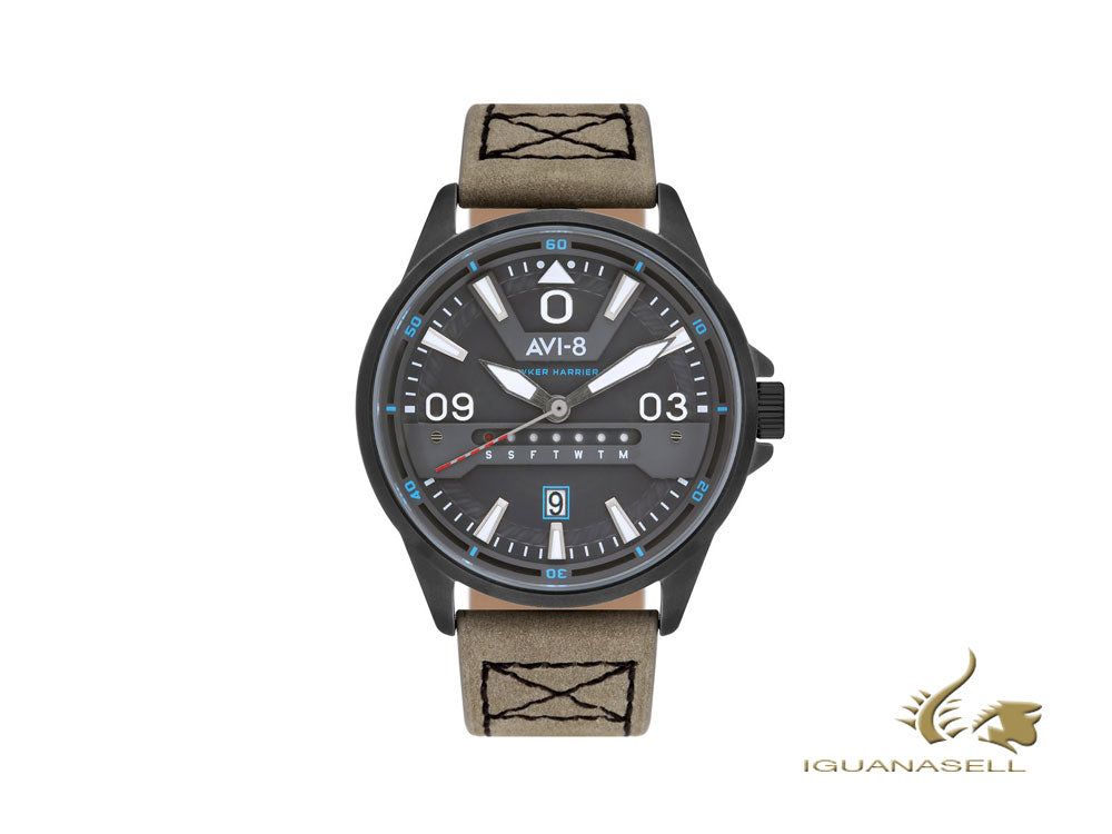 Reloj de Cuarzo AVI-8 Hawker Harrier II, Gris, 45 mm, AV-4063-03