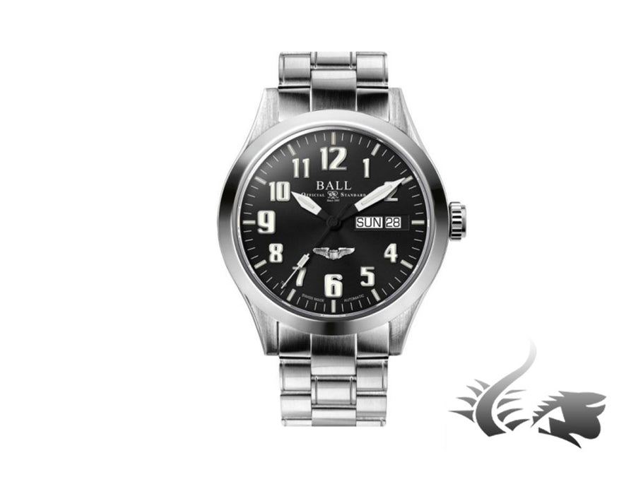 Reloj Automático Ball Engineer III Silver Star, Ball RR1102, Negro, 40mm