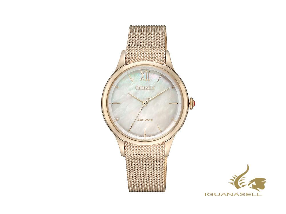 Reloj de Cuarzo Citizen Lady, , 32,5 mm, Beige, EM0813-86Y