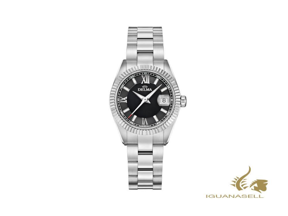 Reloj de Cuarzo Delma Diver Ladies Sea Star, Negro, 29mm, 41701.621.1.036