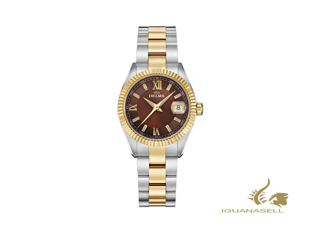 Reloj de Cuarzo Delma Diver Ladies Sea Star, Marrón, 29mm, 52701.621.1.106