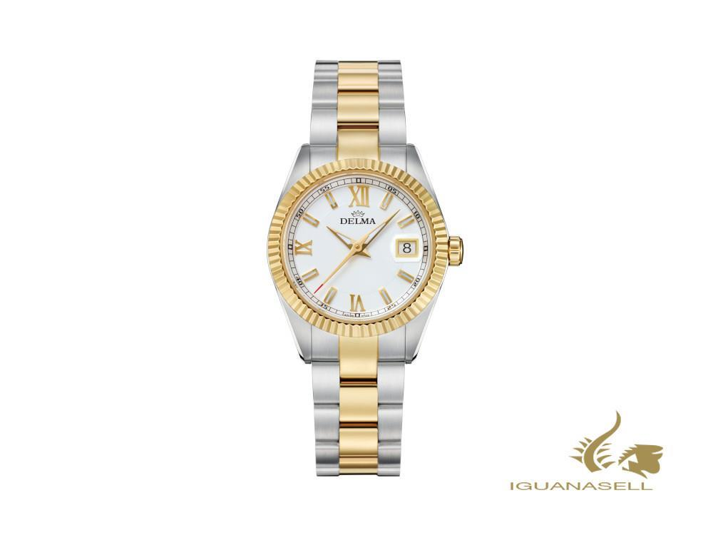 Reloj de Cuarzo Delma Diver Ladies Sea Star, Blanco, 29mm, 52701.621.1.016