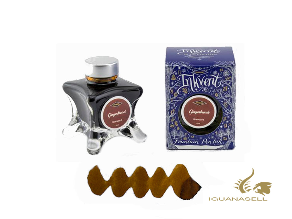 Tintero Diamine Gingerbread, Ink Vent Blue, 50ml, Golden Brown
