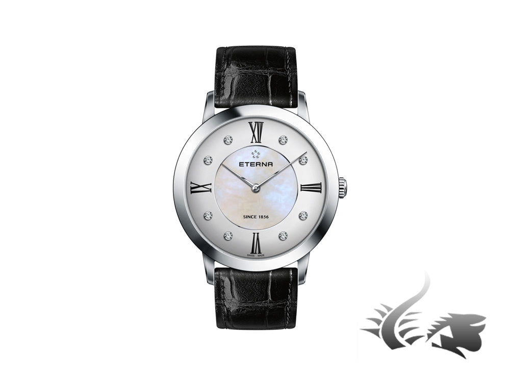 Reloj cuarzo Eterna Eternity Lady, 40mm, Diamantes, Nácar, 2711.41.66.1394