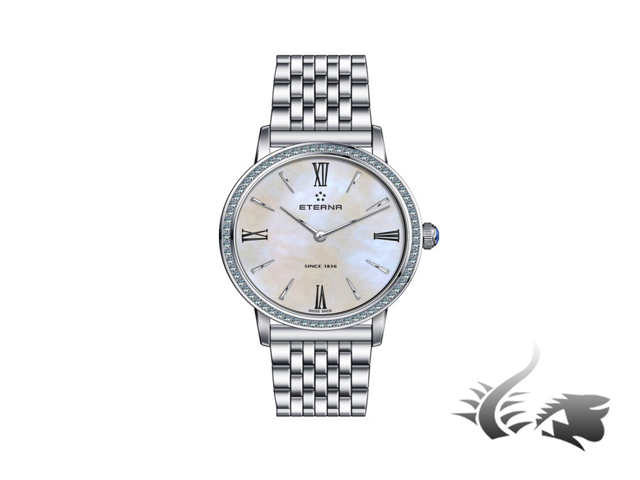 Reloj de cuarzo Eterna Eternity Lady, ETA 956.412, 32mm, Diamantes, Nácar