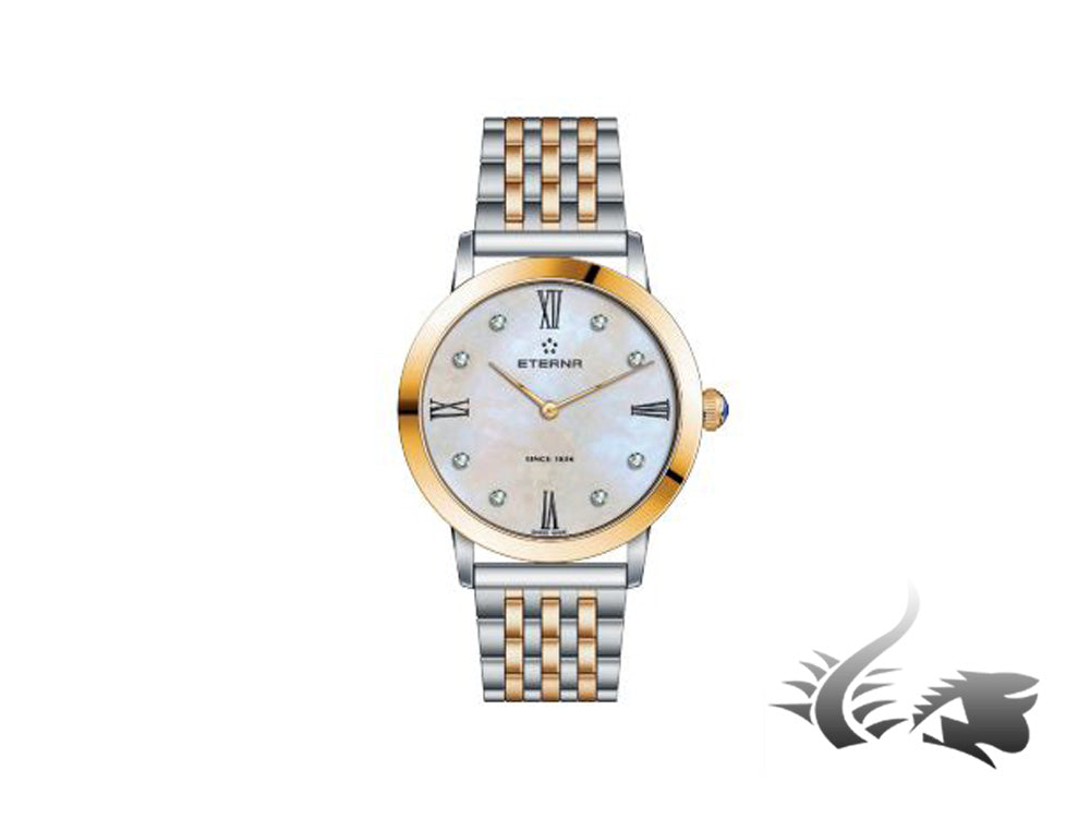 Reloj cuarzo Eterna Eternity Lady, ETA 956.412, 32mm, Oro Rosa, PVD, Diamantes