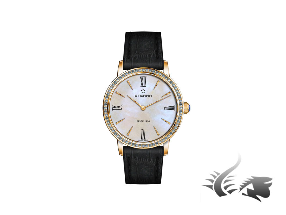 Reloj de cuarzo Eterna Eternity Lady, PVD y Oro rosa, Diamantes, 32mm