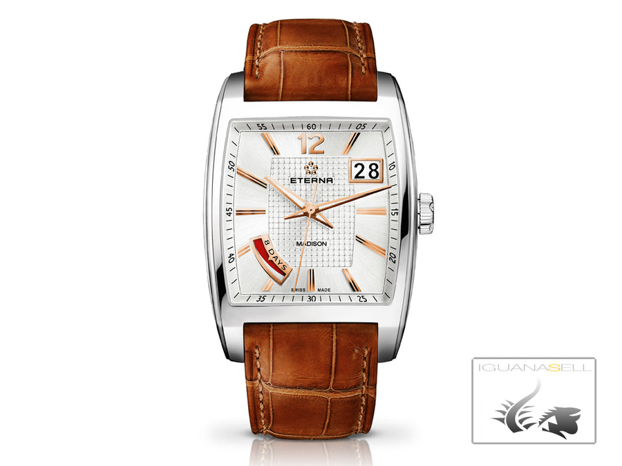 Reloj Eterna Madison Eight Days, Eterna 3510 carga manual, 7720.41.43.1228