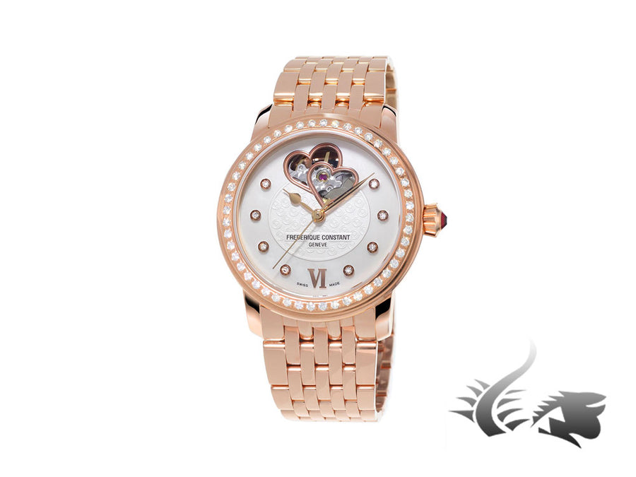 Reloj Frederique Constant Ladies Automatic World Heart Federation, Oro Rosa