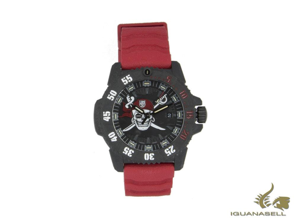 Reloj de Cuarzo Luminox Jolly Roger Limited Edition, Negro, 46mm, XS.3801.JR.SET