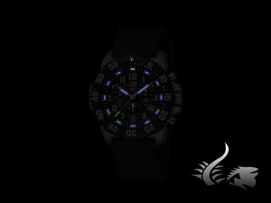 Reloj de Cuarzo Luminox Navy Seal Steel Colormark Chronograph, PVD, XS.3181
