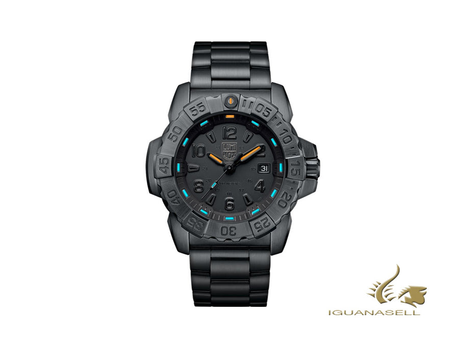 Reloj de Cuarzo Luminox Sea Navy Seal Steel 3250 Series, Negro, XS.3252.BO